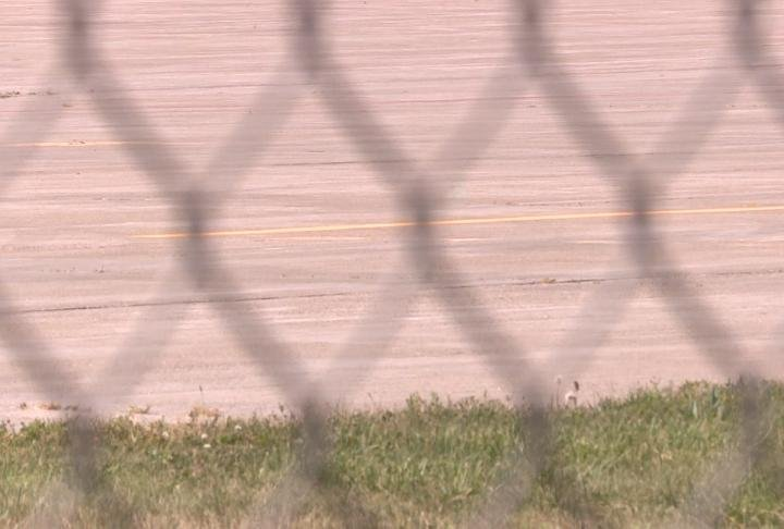 New striping found on the runway at Quincy Regional Airport.