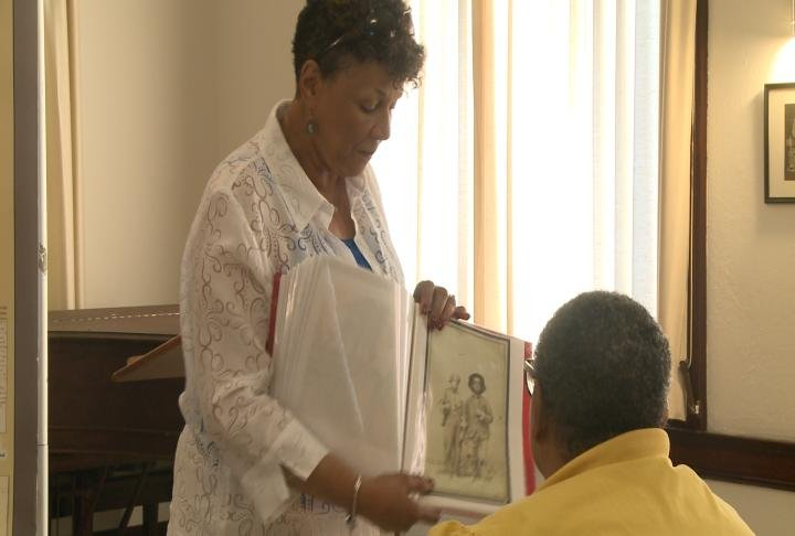 Museum officials discussed the history of slavery in the area.
