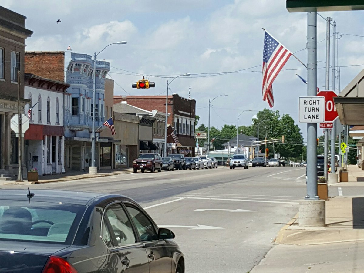 Main Street in Mt. Sterling, Illinois