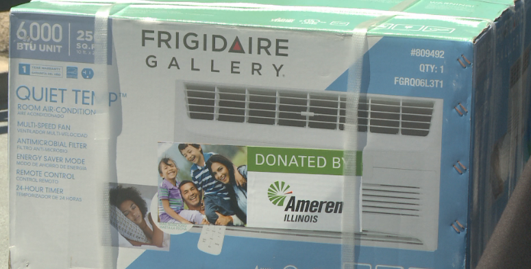 Ameren Illinois is donating 50 air conditioners.
