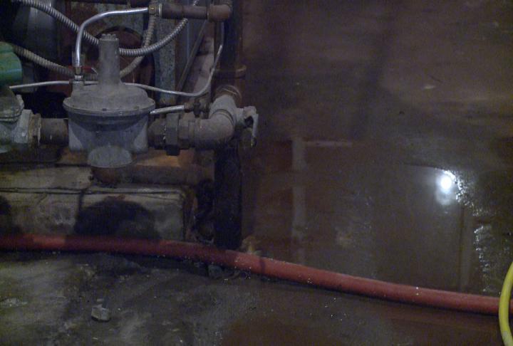 Water still on the floor