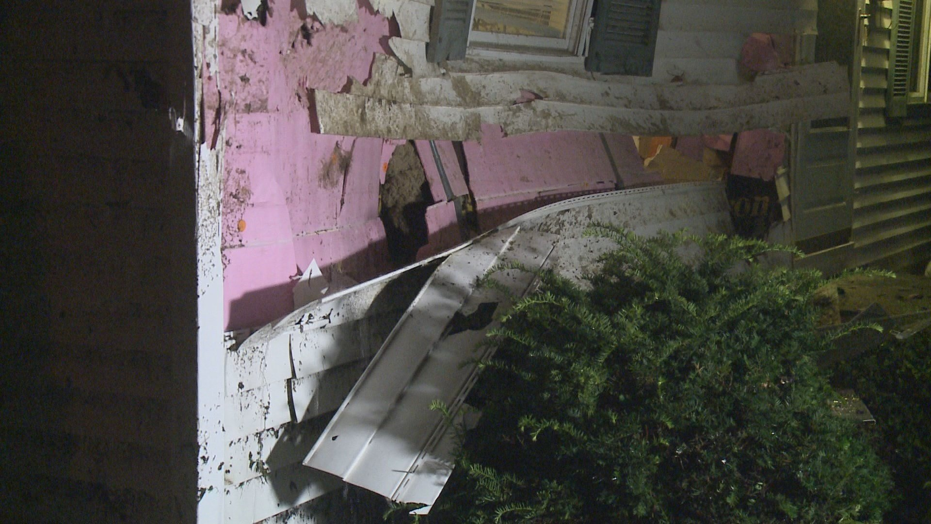 Damage on the house
