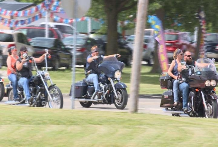 Riders hit the road for the 135 mile trip