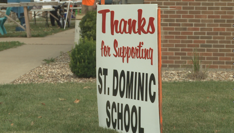 Proceeds benefit St. Dominic's school and church.