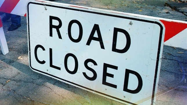 Maine Street partially closed