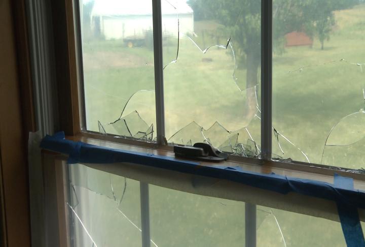Damage inside window