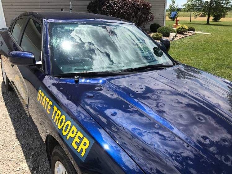 Trooper Hillyer's car.
