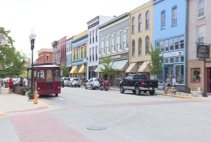 Business in downtown Hannibal