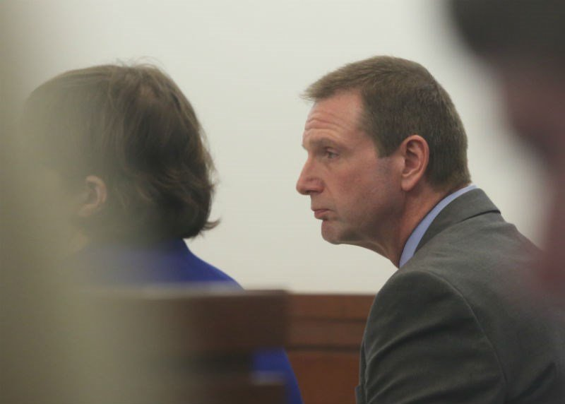 Lovelace during his second trial earlier this year in Sangamon County.