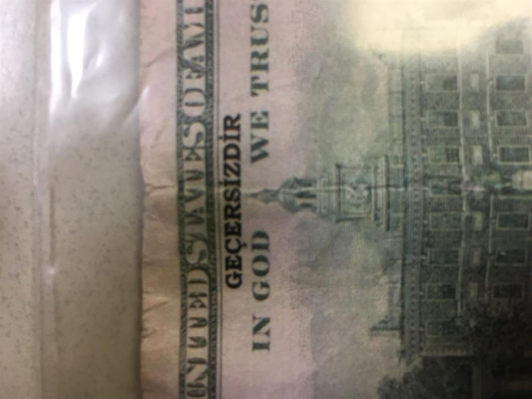 Photo of a counterfeit bill provided by the Quincy Police Department.
