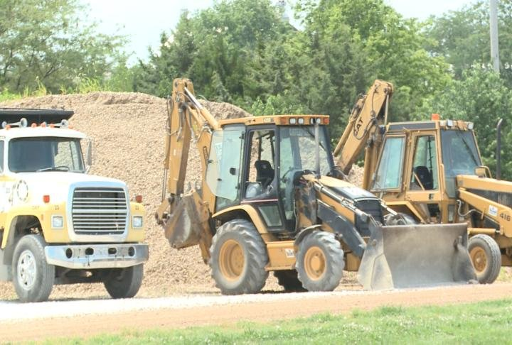 Trucks to redo the parking lots