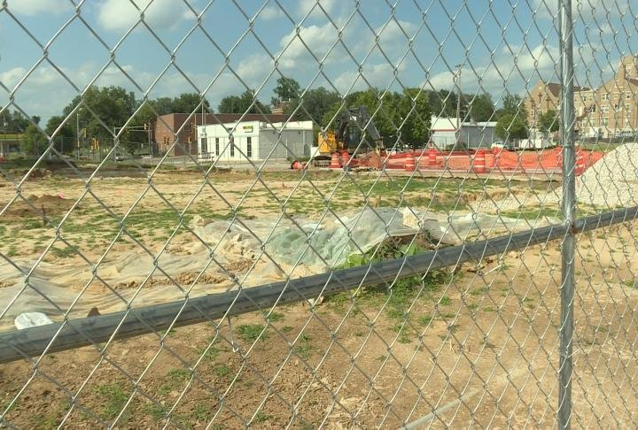 Fence surrounds site for new Adams County Jail.