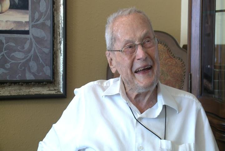 James Haslem is celebrating 102 years on earth.