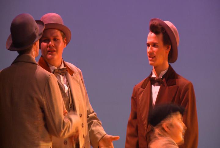 Actors perform in Hello Dolly