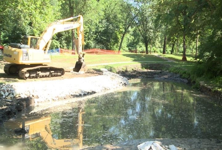 The South Park ponds have been getting worked on.