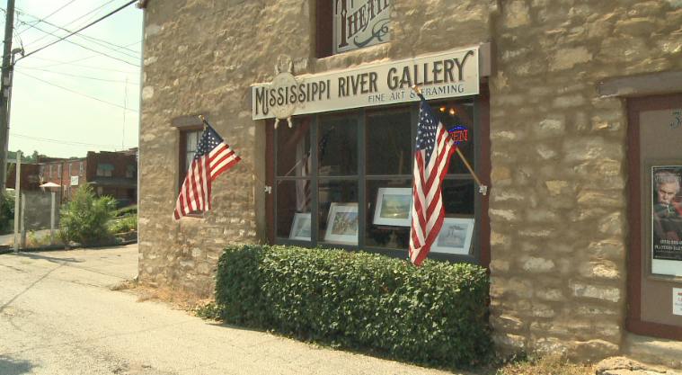 The art gallery is located at 319 N. Main Street in Hannibal.