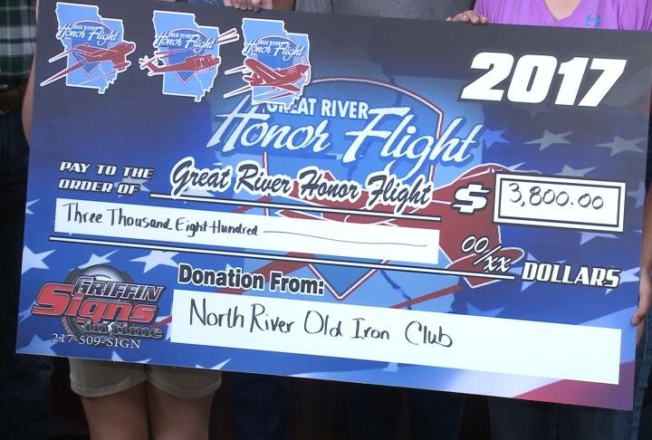 The North River Iron Club presented a check to GRHF.