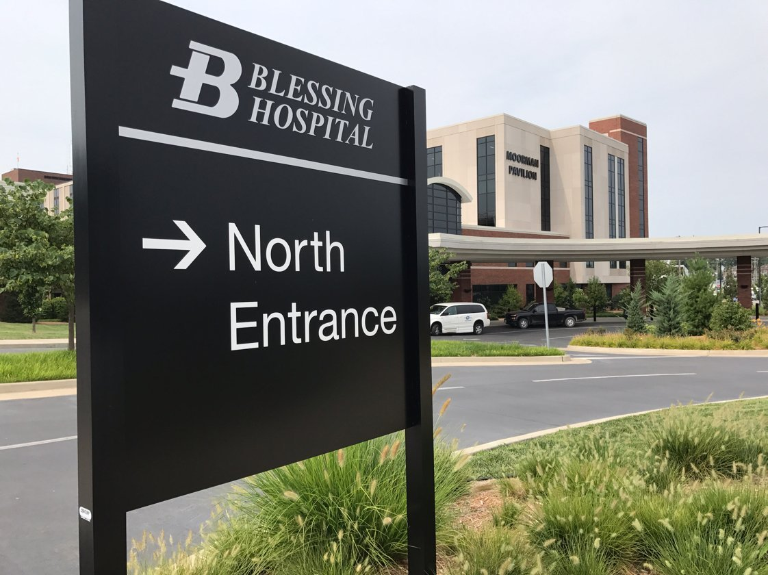 Patients and visitors will be directed to use the north entrance during construction to the main entrance