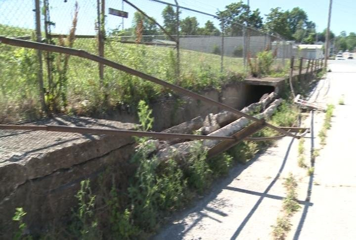 Storm Sewer collapsed in Hannibal.