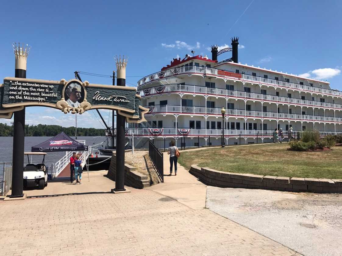 Queen of the Mississippi docked.