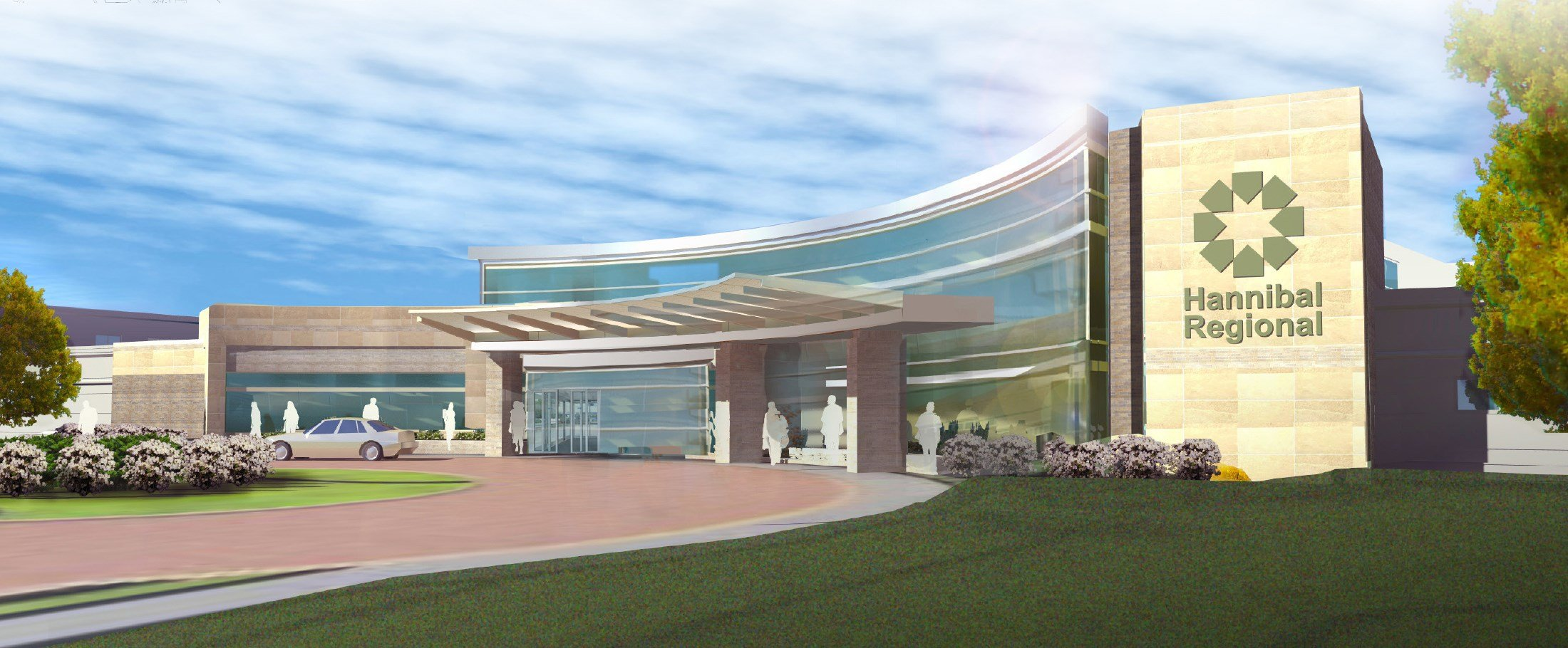 Rendering of the new entrance.
