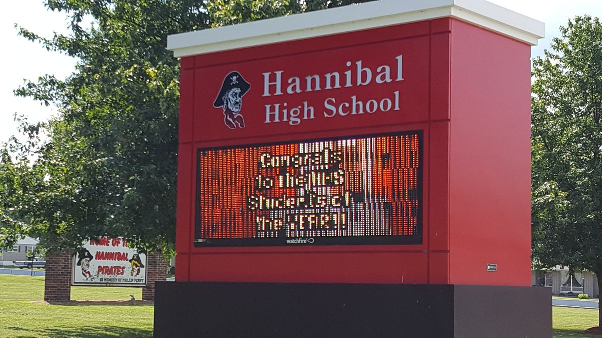 Sign outside of Hannibal High School
