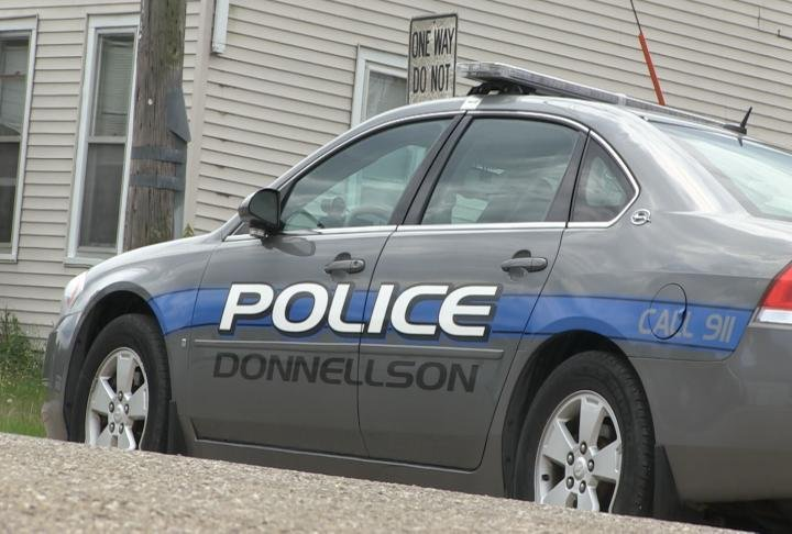 Donnellson police vehicle.