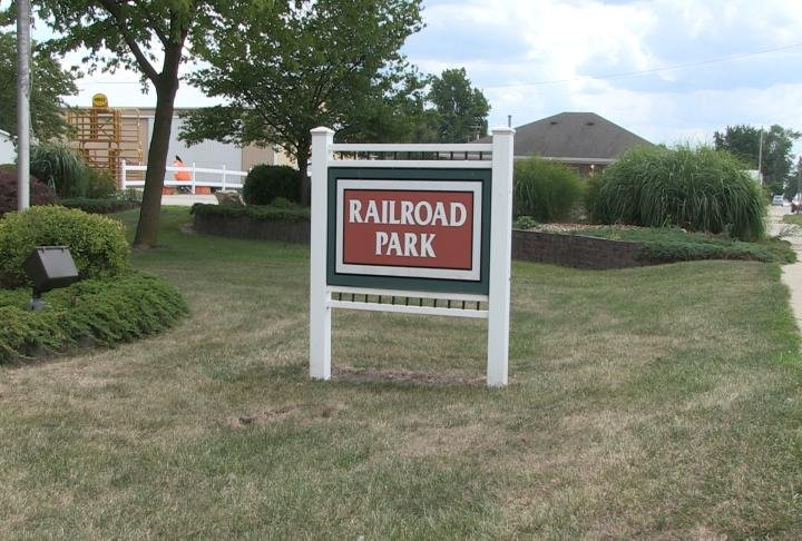 Railroad Park in Donnellson, Iowa.