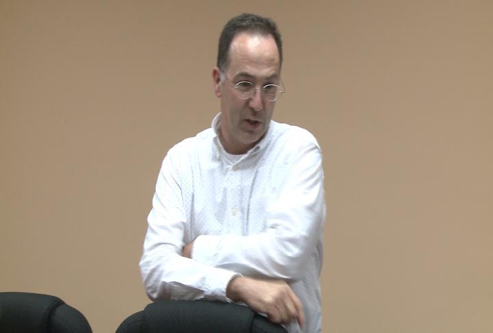 Utilities & Engineering Director Jeffrey Conte talks during a meeting.