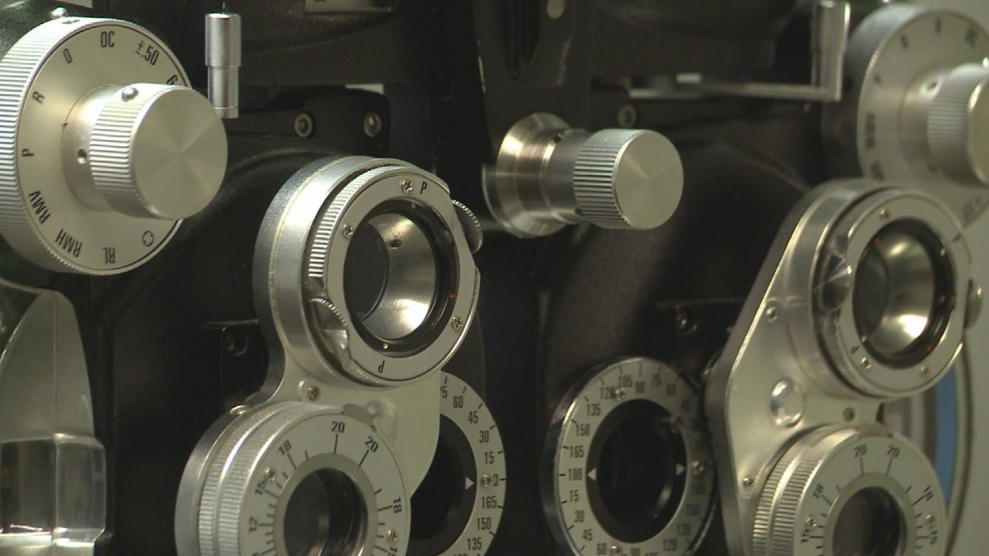 Equipment used in eye exams