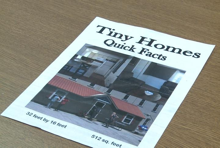 Flyer for NECAC Tiny Homes