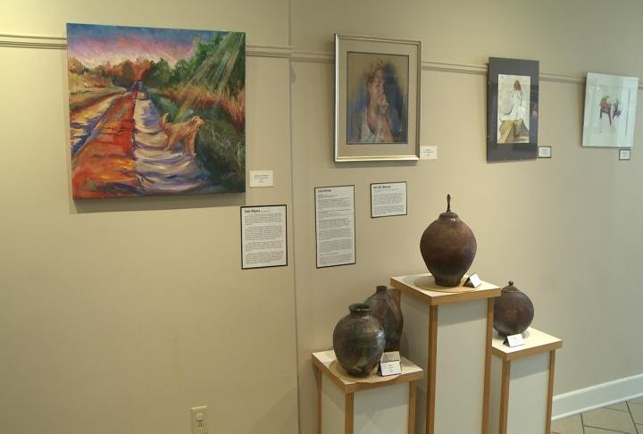 Art on display at the Hannibal Arts Council.