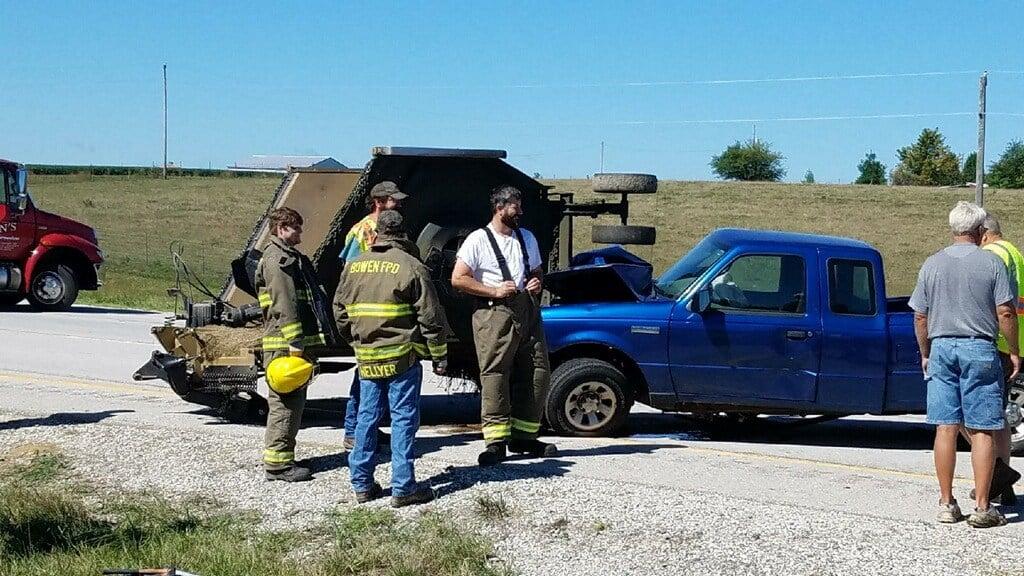 Emergency crews at the scene.