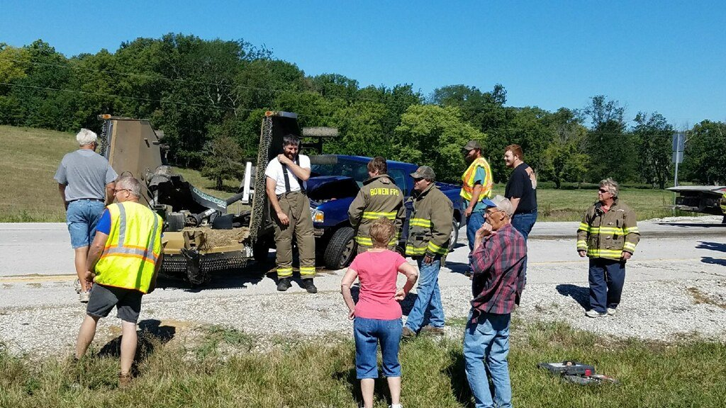 People checking out the wreckage at the crash site.
