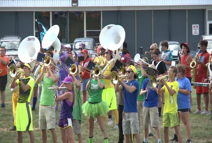 The Marching Blue Devils put on a showcase on Friday.