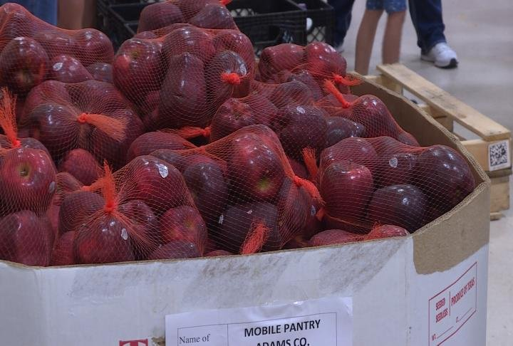 Central Illinois Food Bank donated thousands of pounds of food