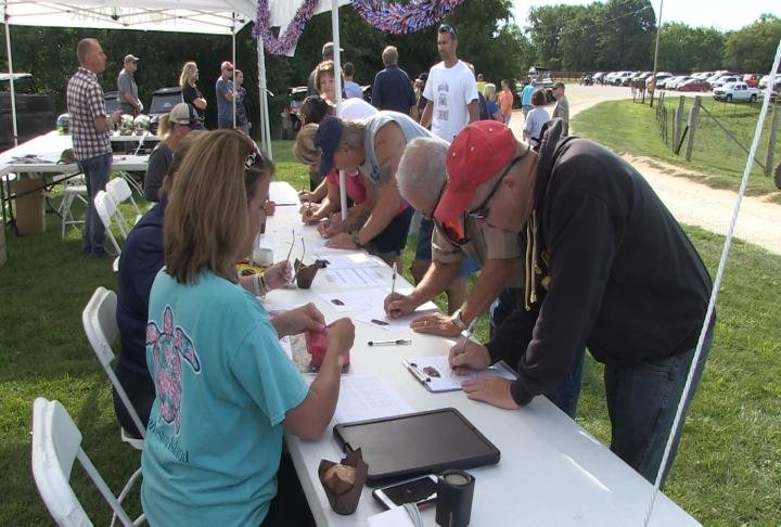 Dozens of veterans signed up for the event.