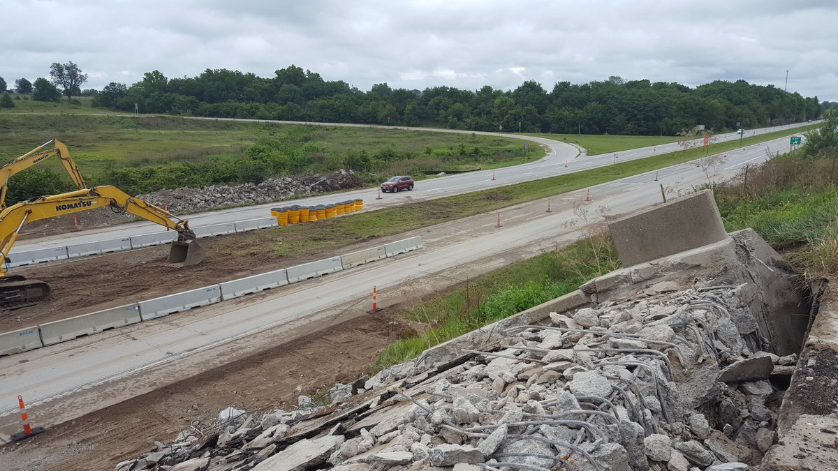 Highway 168 bridge construction near Palmyra, Missouri