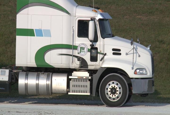 John Wood Community College held an information session on Monday for its truck driving course.