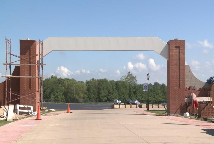 The college will get a new archway in the entrance