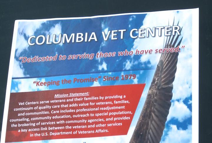 Flyer for the Columbia Vet Center
