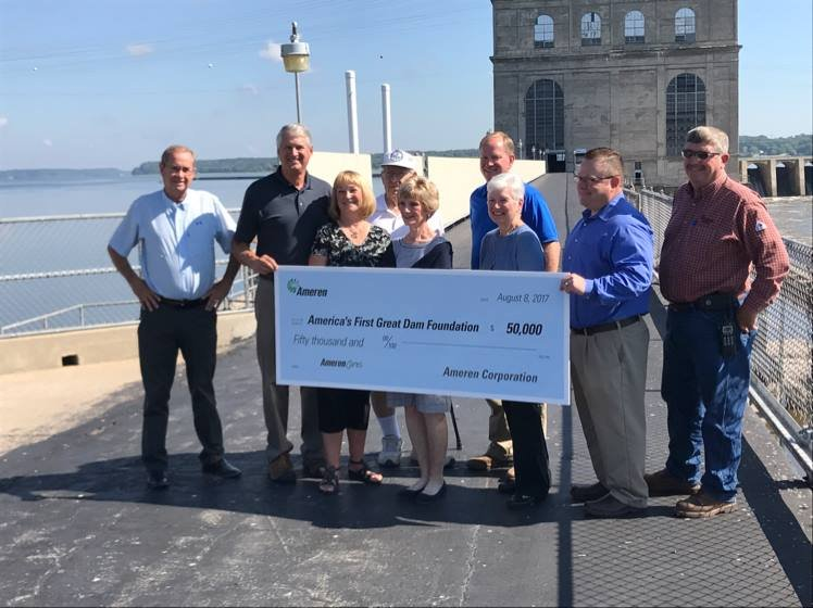 Check presentation at the dam.