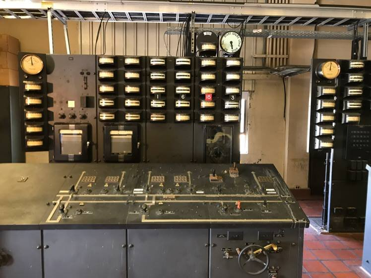 Old control panel will be donated to the museum.