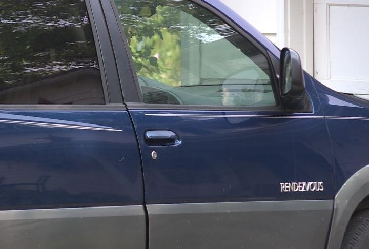 SUV parked in driveway. This was one of the cars burglarized.