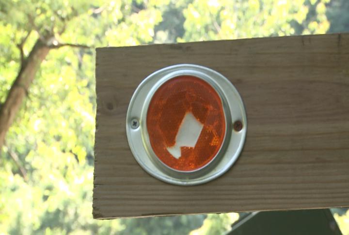 Light reflector broken