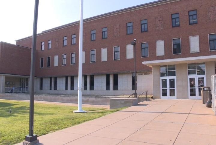 Outside look of the Adams County Courthouse.