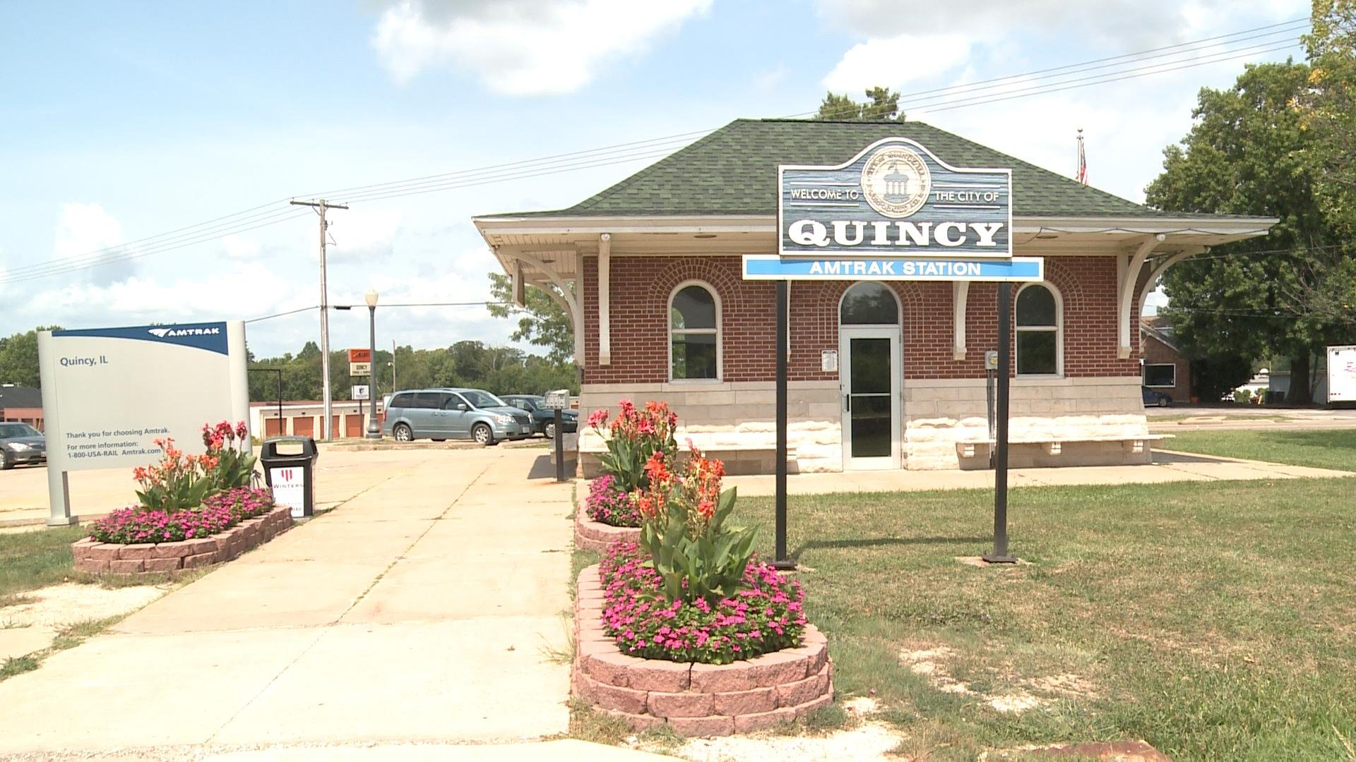 Quincy's Amtrak station.