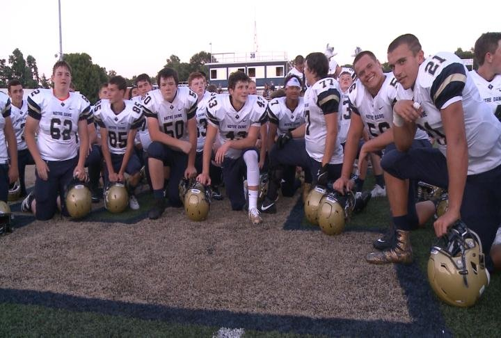 QND dawned its game day uniforms for the first time in the annual Blue/Gold scrimmage.