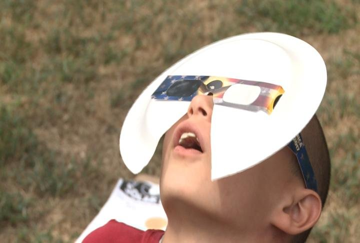 Kids were awe struck during the eclipse.