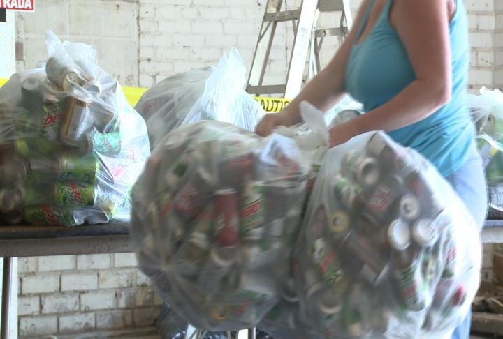 Residents brought in several bags.